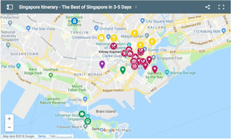 3 day Singapore itinerary