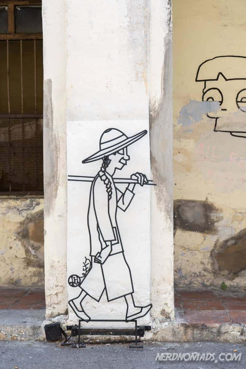 Narrowest Five Foot Street Art George Town Penang