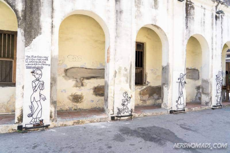 Narrowest Five Foot Way Street Art George Town Penang