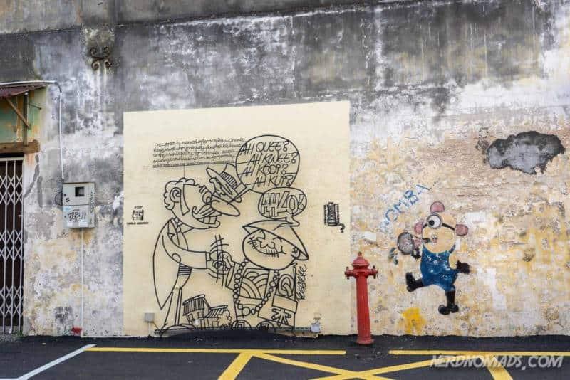 Ah Quee street art George Town Penang