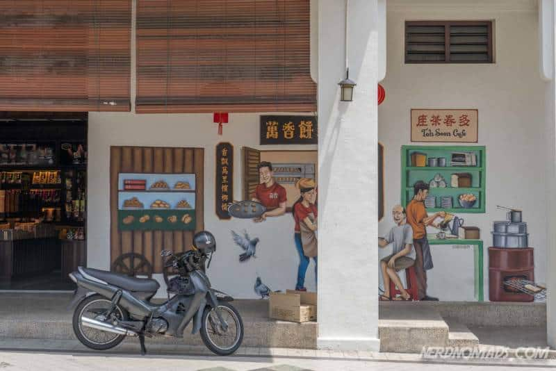 Mural at a cafe in George Town