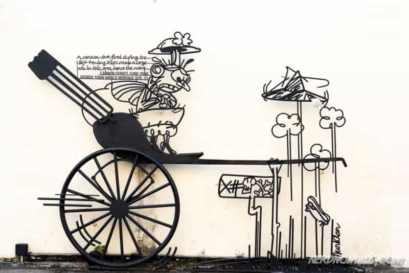 Cannon Hole street art George Town Penang