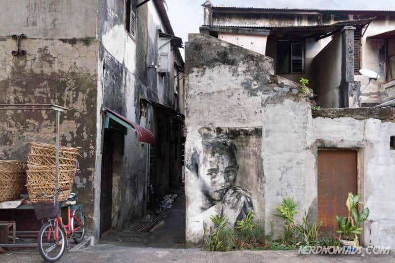Indonesian Boy mural George Town Penang