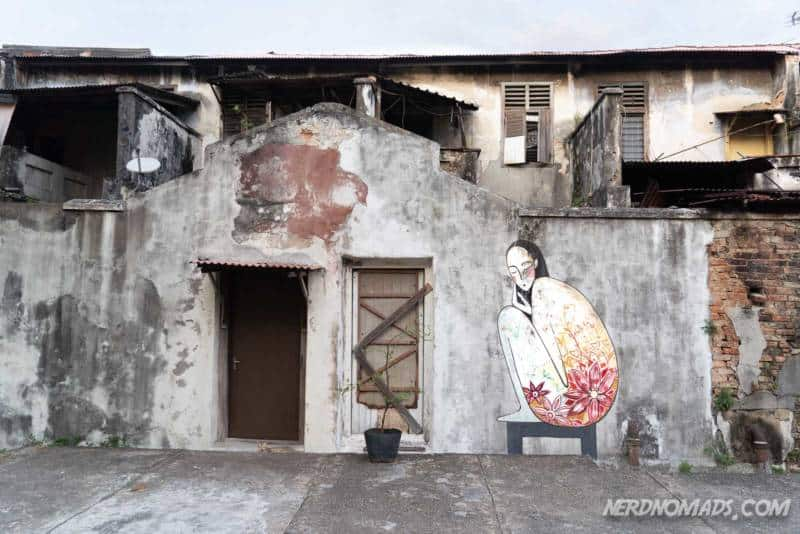 Flower Woman mural George Town Penang