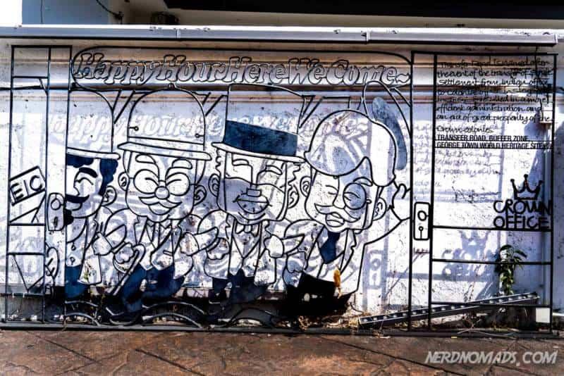 Happy Hour street art George Town Penang