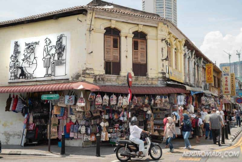 Kopi O Kau street art George Town Penang