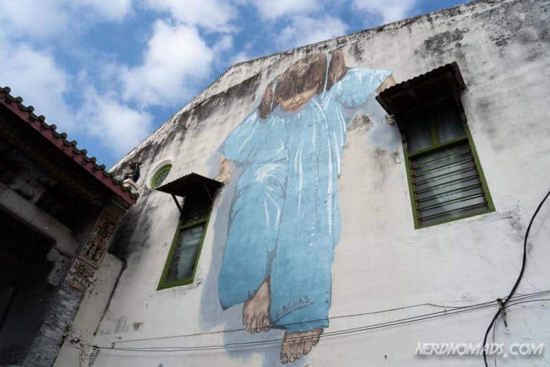 Kungfu Girl street art George Town Penang