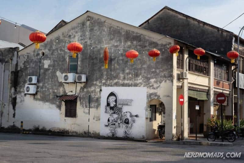 Quiet Please street art George Town Penang