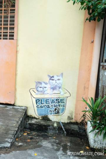 Please Care & Bathe Me mural George Town Penang