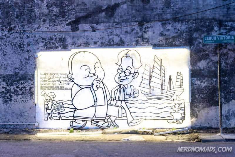 Property street art George Town Penang