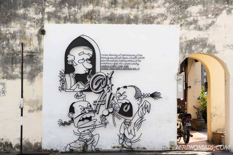 Quiet Please street art George Town Penang