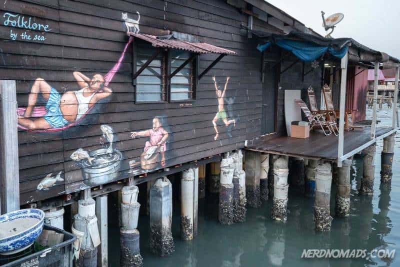 street art mural Chew Jetty George Town Penang