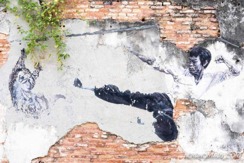 The Real Bruce Lee Would Never Do This mural George Town Penang