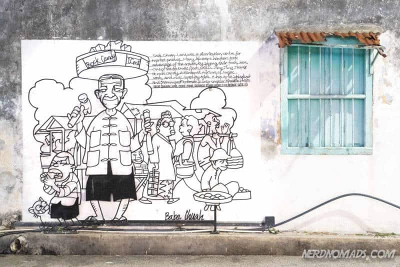 Ting Ting Thong street art George Town, Penang, Malaysia