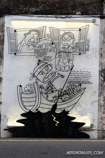 Waterway street art George Town Penang