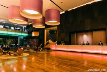 Lobby at G Hotel Gurney Penang
