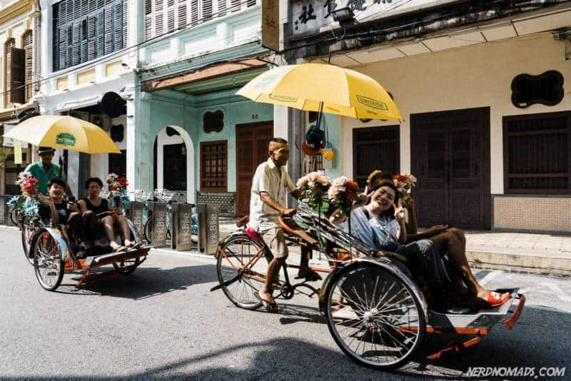 Rickshaws on Muntri Street