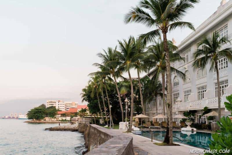 The Eastern & Oriental has a fantastic location overlooking the ocean