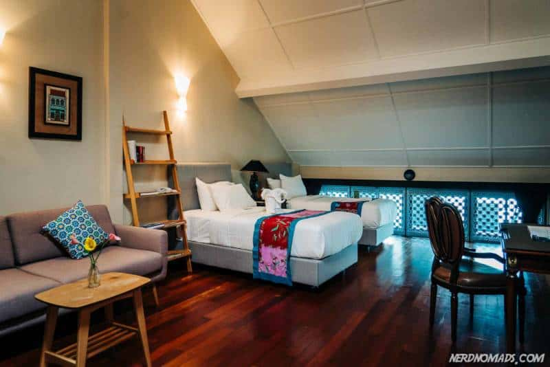 Areca hotel room Penang