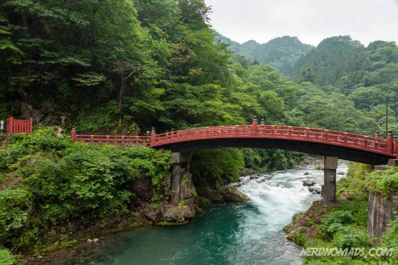 Red bridge Nikko Japan