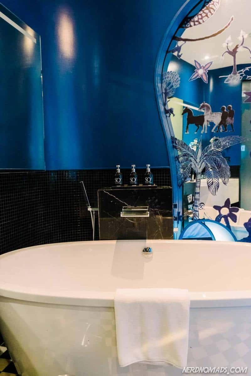 Bathtub in water themed rooms at So Sofitel Bangkok