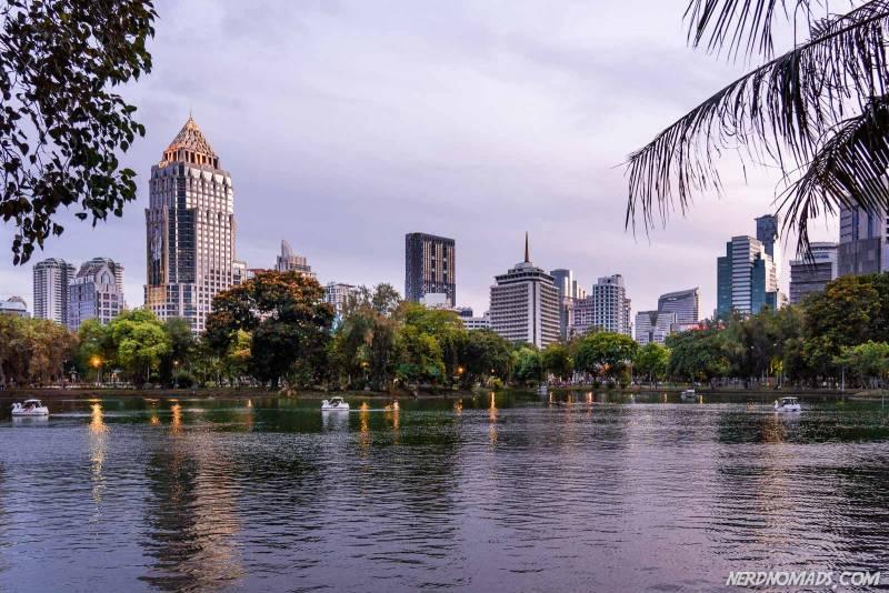 Eveneing in Lumphini Park Bangkok