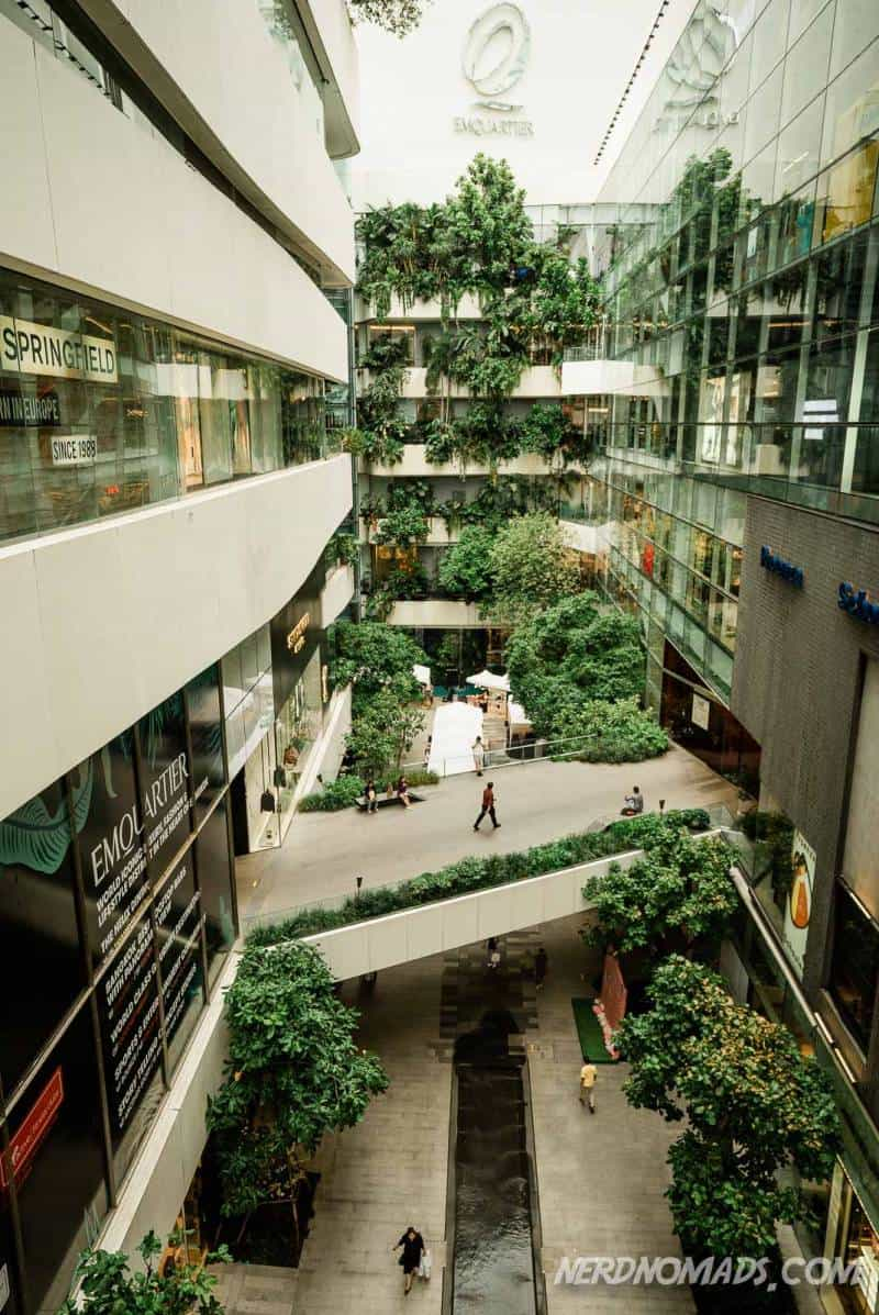 Emquartier shopping mall in Bangkok is a green and earthy mall