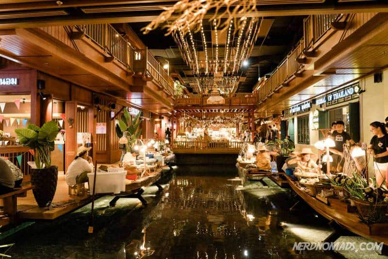 The basement of IconSiam mall is a floating market