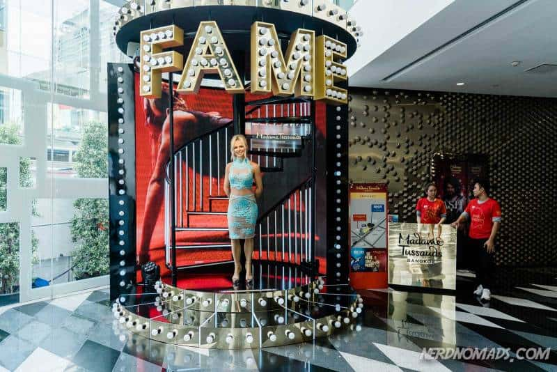 Madame Tussauds in Bangkok is located in Siam Discovery shopping mall