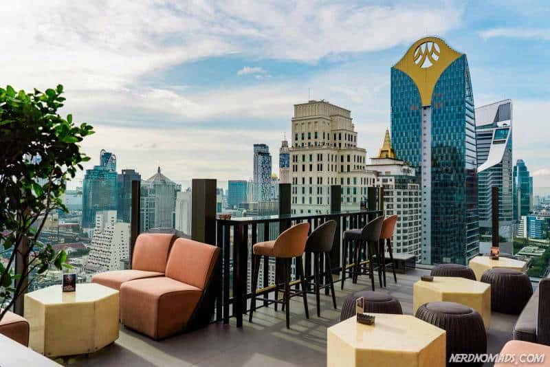 View from Skybar at Hotel Indigo Bangkok