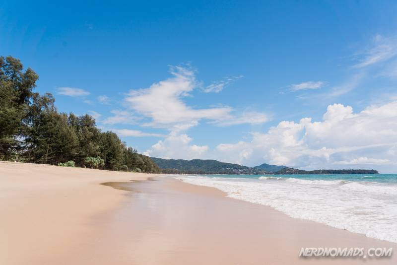 Bang Tao Beach is a stunning white sandy beach in Phuket Thailand