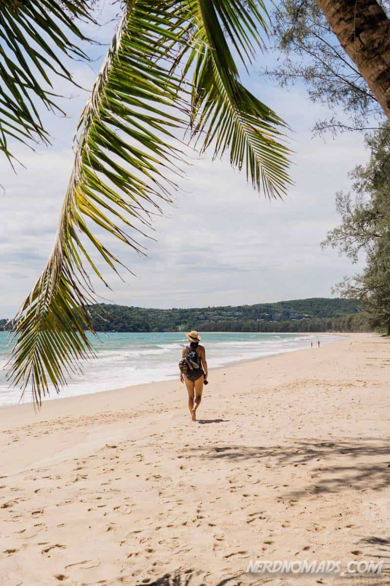 The long Bang Tao Beach Phuket is prefect for walking and running