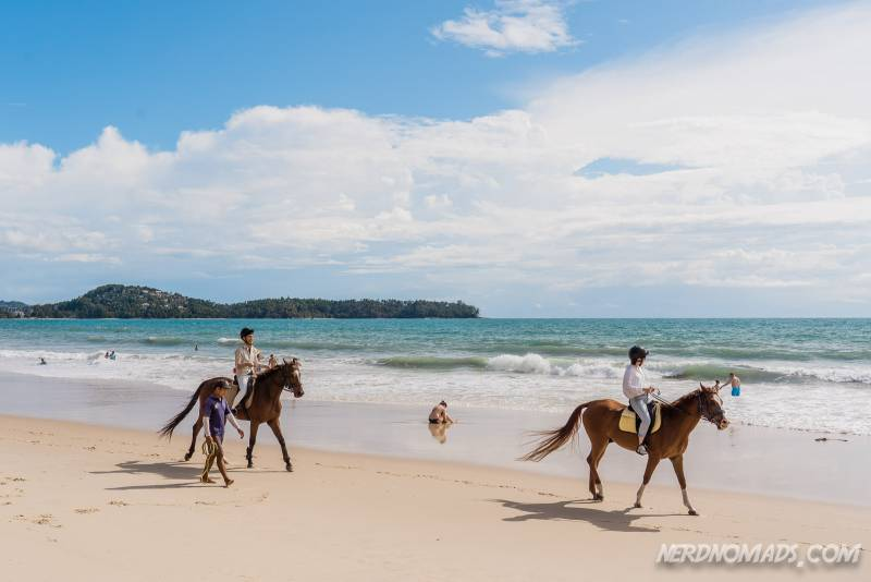 Horseriding at Bang Tao beach is one of the many fun activities you can do in Bang Tao Phuket