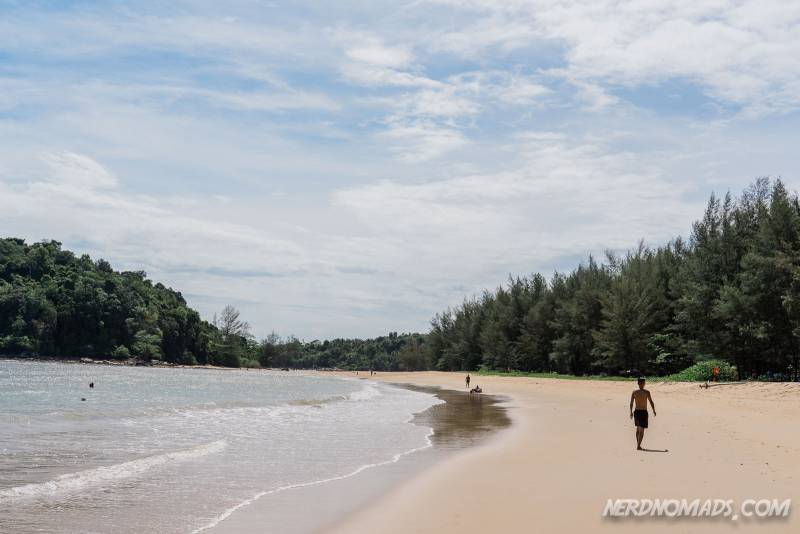 The northern part of Bang Tao Beach is pristine and empty