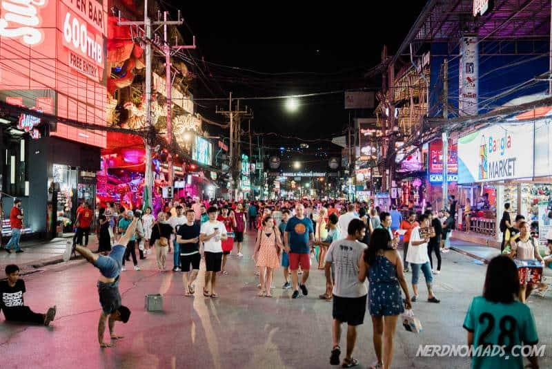 Bangla Street in Patong Phuket is where the famous and notorious nightlife of Patong takes place