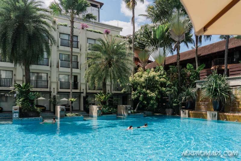 The big outdoor swimming pool at Burasari Phuket Resort & Spa