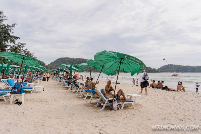 You can rent sun beds and parasols at Patong Beach Phuket