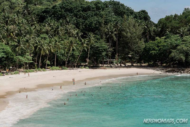 The peaceful and secluded Freedom Beach in Phuket