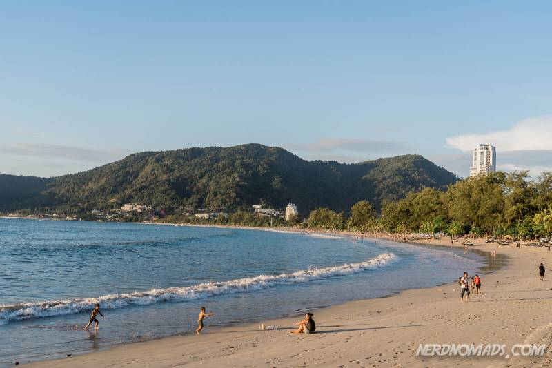 The southern part of Patong Beach in Phuket is more relaxed and quiet compared to the mid and northern part