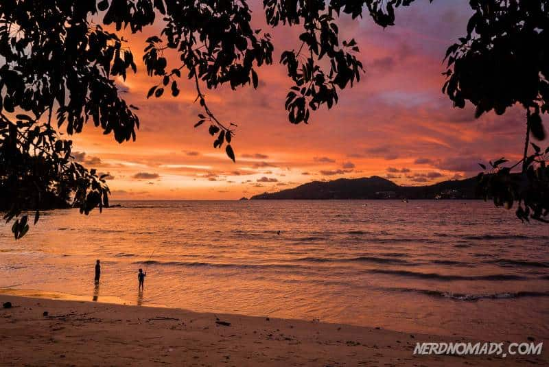 Stunning sunset in Patong Beach, Phuket, Thailand