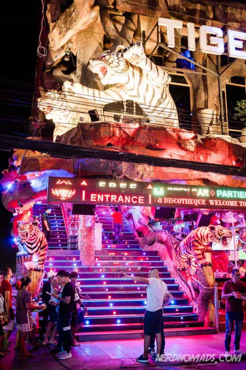 Tiger Disco is a popular disco and party place in Patong Beach, Phuket