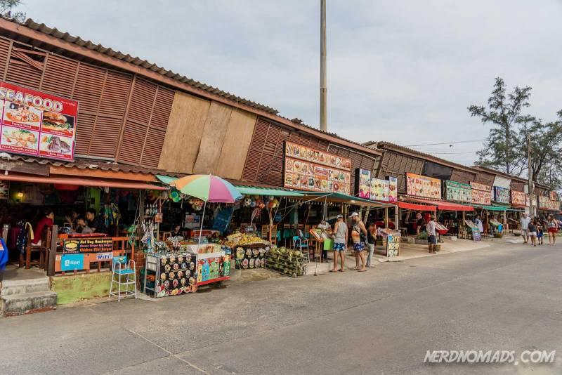The Bazar Karon shopping street at Karon Beach Phuket