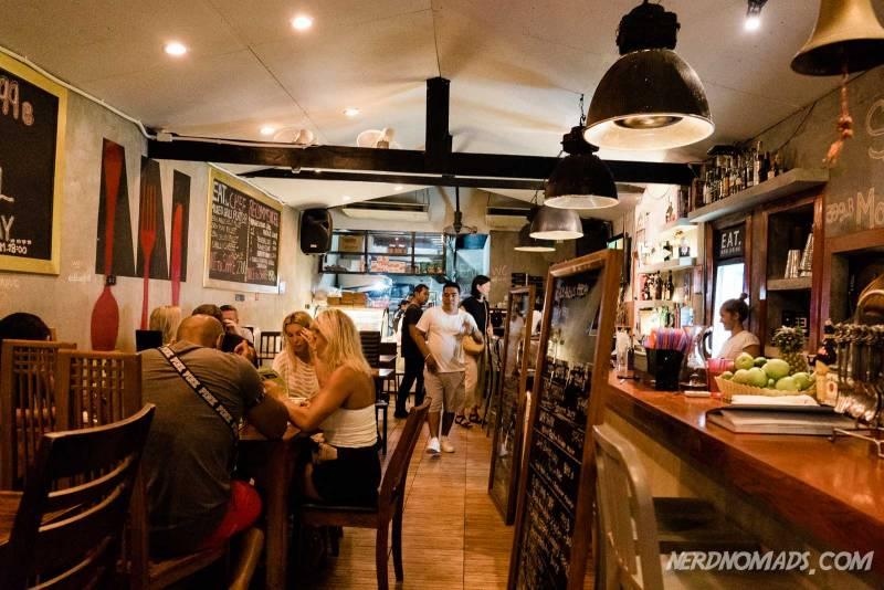 Inside the eat restaurant in Karon Beach Phuket
