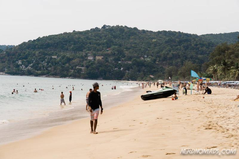 You can rent jet skis at the Karon Beach Phuket