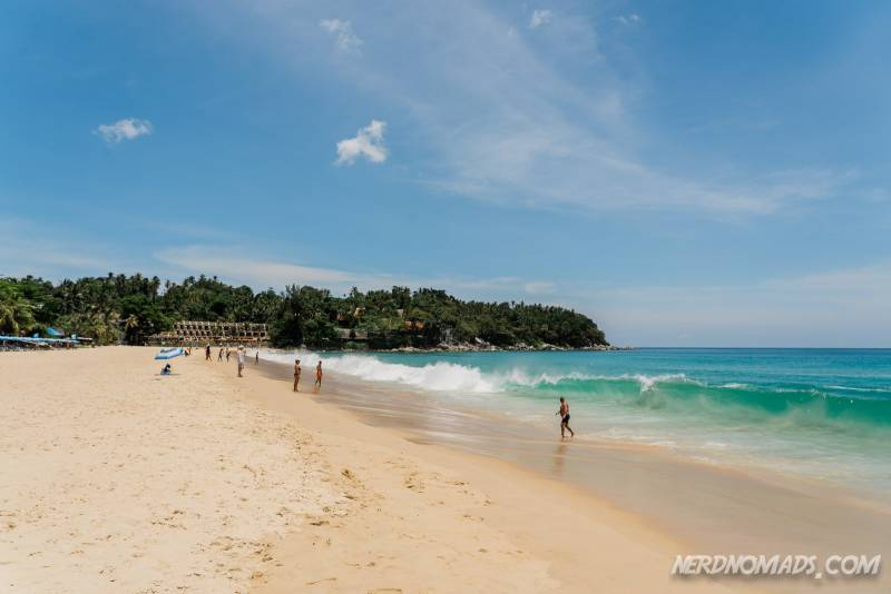 The Karon Beach in Phuket Thailand is stunning with white sand and turquoise sea