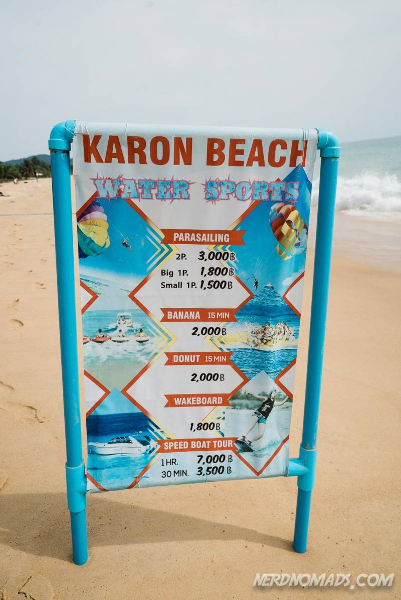 You can do lots of water sport activities at Karon Beach Phuket