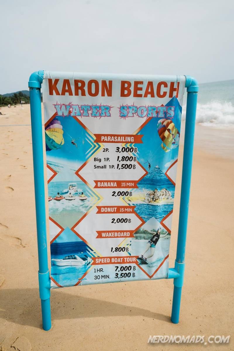 You can do lots of water sport activities at Karon Beach Phuket