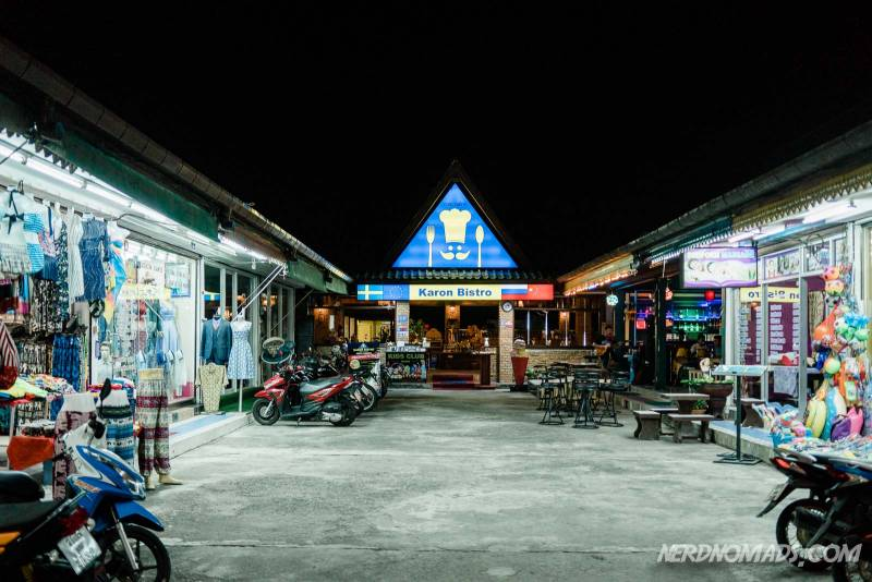 Karon Beach has lots of restaurants like Karon Bistro Phuket