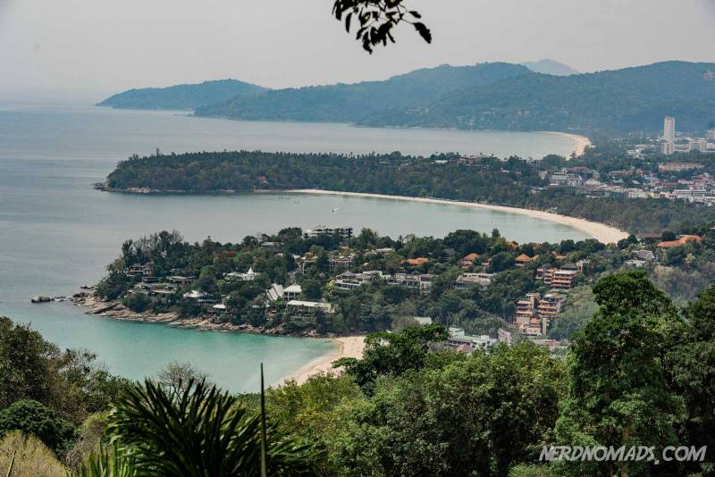 From Karon Viewpoint in Phuket you have awesome views over the west coast of Phuket