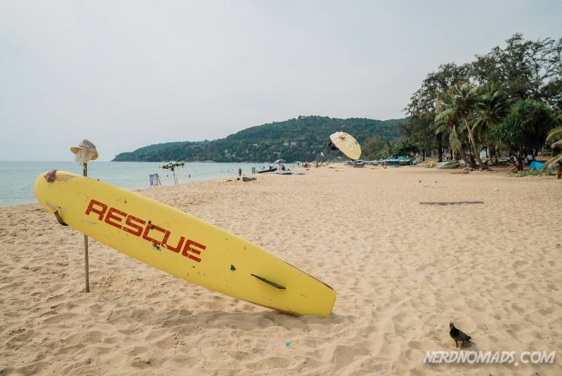 You can go surfing at Karon Beach Phuket